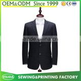 High quality men's slim fit 2 button suit men's new model grid blazers business suit