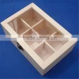 cheap wholesale unfinished wooden window gift box