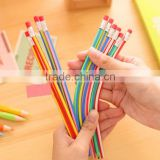 Flexible Soft Pencils With Eraser / Bendy pencils / magic pencils