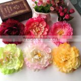 Hot Selling Large Soft Color Peony Flower Silk Flower For Hair and Brooch Ornament