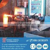 Induction heating steel bar automatic forging machine