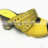woman top fashion high heel leather slipper shoes with crystal stone sandals /many color stone heels shoes YZ1212-2