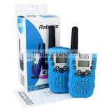 NEW blue sky ONE pair Retevis RT-388 UHF 446MHz LCD Display Flashlight VOX ham radio for kids