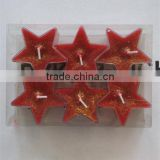 colored scented pentagram tealight candle from Qingyun Super Light Candle Technology Co.,Ltd