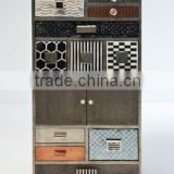 Bone inlay furniture cabinet, Indian Bone Inlay Cabinet Chalet 12 Drawers