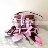 EQUESTRIAN HORSE GROOMING KIT HORSE GROOMING BRUSHES WITH CARRY BAG HORSE GROOMING KIT WHOLESALE HORSE GROOMING BRUSHES