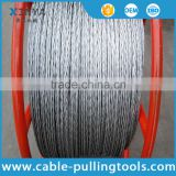 Conductors Stringing Anti twist Wire Rope 9mm Galvanized Braided for Power Line 6 Squares