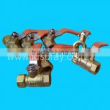 brass water pipe valve ball