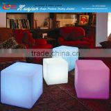 outdoor led stool/ glowing storage container/color chaning outdoor planter/light up cube/ led book shelf