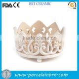 Custom design ceramic crown candle holder