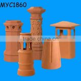 Terracotta chimney rain caps