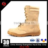 Khaki suede cow leather army tactical military desert boots with zipper for Hunting /Hiking/ Camping