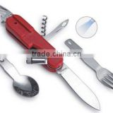 Detachable picnic knife, plastic handle with LED,camping sets