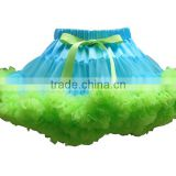 Wholesale princess style baby girls solid color tulle skirt from China manfactory by handmade