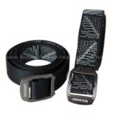 Alloy buckle jacquard nylon belt narrow two sides belts, buckle and strap can be seperated