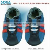sports infant soft sole baby shoes with red blue and black combination