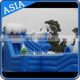 Ice World Penguin and White Pony Giant Inflatable Water Park with Stable Swiming slides and Pool for Sale