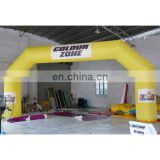 inflatable arch door for event .stitching arch with logo. yellow arch