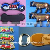 plastic rubber soft pvc 3D logo souvenir alloy metal wine bottle opener, bottle opener bar beer tool