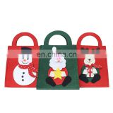 Snowman elk Santa Claus Felt Handbag for Christmas Gift