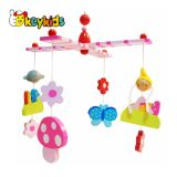 Customize colorful wooden cot mobile for baby crib W08K037
