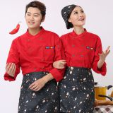 Chef clothes, kitchen clothes, restaurants, hotels, autumn and winter clothing, men and women custom