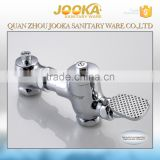 new design Chrome plated solid brass foot control toilet flush valve
