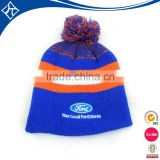 Men knitted pom pom crochet cotton beanie