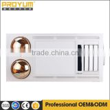 Ceiling mounted PTC ceramic Bathroom heater with 2 infrared golden lamps for long life of intelligent display SAA approval