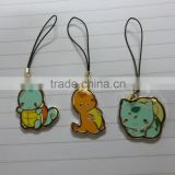 Personalized Soft Enamel Epoxy Resin Animal Pendant with Nylon Wire Phone Accessories Mobile Phone Strap - Tortoise/Cat