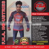 Rash Guards, Compression wear, Men Women Sublimation Rash Guards, MMA Boxing Martial Arts Rash Guards by FHA INDUSTRIES