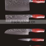 YANGJIANG factory manufacture Elegant cutting knife set damascus steel kitchen knife set