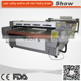 AZ-1612F Auto Feeding lace fabric Paper box leather bracelet Laser Cutting Machine For Sale