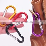Outdoor Sports Multi Colors Aluminium Alloy Safety Buckle Keychain Climbing Button Carabiner Camping Hiking Hook