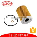 Automotives yellow paper oil cleaner oil filter unit 11 427 837 997,7834 7312,OX254 for BMW car models