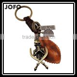 Hot Sale Leather KeyChain High Quality Fashion Skull Pendant Key Chain rings Vintage keyring Accessories