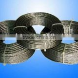 S.S. 316 stainless steel wire rope 7x7 2.5mm
