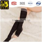 Hot Sale On TV Knee Length Socks Open Toe Support Compression Stocking