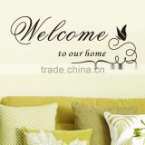 Welcome to our home Quote Removable Vinyl Decal Decals Wall Sticker Stickers Home Decor DIY Butterfly