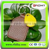 Barcode keychain card 125KHz ABS RFID Keyfob(T5567,T5577) with logo printing and laser number AB02