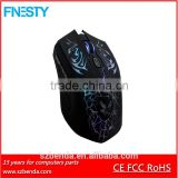 Whosale cheap 6D Optical backlight 7 colours mouse wired gaming mouse