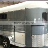 China Manufacturer 2 Straight Standard Horse Box Trailer Sales for Austrilia
