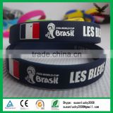 Hot sale brazil world cup silicone bracelet (directly from factory)