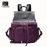 Hot sale casual travel bag leather backpacks oxford waterproof backpacks