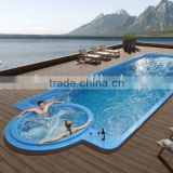 Liquid Acrylic Swimming Spa; 12 meters long swimming pool;swimming pool for hotel,cottage and passenger liner use