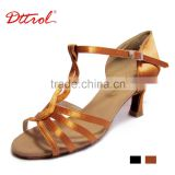 D006095 Wholesale girls low heel latin ballroom ladies line dance shoes