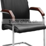 high quality white and black leather cover and stainless steel frame L shape Dining chair for dining room furniture