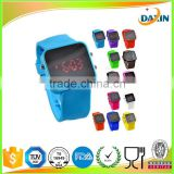 2014 newest design smart LED silicone digital touch screen multiplecolor hand made wrist watch