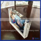 Yageli Factory clear acrylic block photo frame / acrylic maganet photo frame for custom size