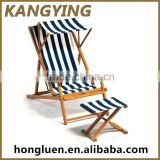 Factory Wholesale High Quality Foldable Wooden Canvas Deck Chair